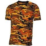 MFH 00131K US Army Herren Tarn T-Shirt Streetstyle (Orange Camo/S)