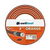 Cellfast ORANGE ATSV™ Gartenschlauch 5-Lagen-Schlauch Wasserschlauch Trikotgewebe UV-beständig 24 bar Berstdruck (1/2' 15m)