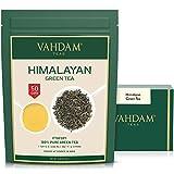 Grüner Tee Blätter aus dem Himalaya 100 Gramm (50 Tassen) - Entgiftender, gewichtsreduzierter Tee, 100% reiner grüner Tee aus den Hochlandplantagen in Darjeeling | Detox Tee zum Abnehmen | Abnehmtee
