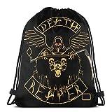 asdew987 Kordelzug-Taschen Emblem Unisex Kordelzug Rucksack Sporttasche Seil Tasche Big Bag Drawstring Tote Bag Gym Rucksack in Bulk