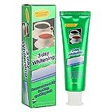 Bleaching Zahnpasta, Whitening Toothpaste,Natürliche Zahnaufhellung und Bio Whitening Zahnpasta Tee Kaffeeflecken Entfernen Zahnpasta Zähne Schutz weiße Zähne