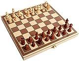 Verbesserte Magnetschach-Set, Holzschachbrett-Spiel-Spiel-Set mit gefertigten Schachspiel & Lager-Slots für Kinder Erwachsene, Reisespiele, einzigartige Schach-Sets, Geschenk ( Size : 11.4IN×11.4IN )