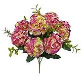 Ironhorse Künstliche Hortensien mit 10 Blütenköpfen, Brautstrauß, Dekoration für Blumenarrangements, V