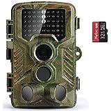 COOLIFE Wildkamera Fotofalle 21MP 1080P HD Jagdkamera Nachtsicht Bewegungsmelder IP66 Wasserdichter& Staubdicht 3-Zonen-Infrarotsensor 125 °Weitwinkel Nachtsichtkamera mit 32G Speicherk