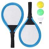 Abaodam Badminton-Schläger-Set für Kinder, Sport, Tennisschläger, Eltern-Kind, Badminton-Federbälle, runde Bälle, Anfänger, Spieler, Indoor-Outdoor-Sport-Spiel