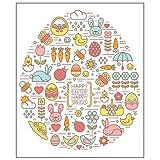 YU-HELLO Silikon-Stempel 'Happy Easter', transparent, zum Selbermachen