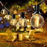 Lichterkette Außen, IREGRO LED Lichterkette Glühbirnen, Outdoor Lichterkette, 8M, 20er LED Birnen, Warmweiß, für Garten, Hochzeit Party und Weihnachten Dekoration