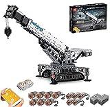 LINANNAN Technic Liebherr LTR 11200 Crawler Kran, 12 Motoren und 4000 Ziegelsteine - kompatibel mit Lego