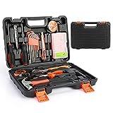 52-Teiliges Werkzeugkoffer, Smalibal Premium Universal Werkzeugkasten, Haushalts-Werzeug Set mit eine Vielzahl von Werkzeugen für leichte Heimarbeiten und Reparaturen