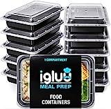 [30er Pack] 1-Fach Meal Prep Container Von Igluu - Essensbox, Lunchbox Mikrowellengeeignet, Spülmaschinenfest Und Wiederverwendbar - Luftdichter Deckelverschluss, BPA Frei
