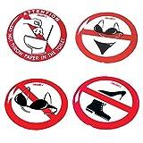 Lalizas Sticker No Swimsuits 80 mm