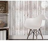 Selbstklebende Klebefolie Möbelfolie,Vertikale Streifen mediterrane Simulation Holzkorntapete, PVC selbstklebende Tapete, Schlafsaalmöbel Renovierungsaufkleber-Leichte weiße lila Holzkorn_45 cm * 6m.