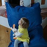 QSack Kindersitzsack Outdoorer, mit Innensack und Deutscher Qualitätsfüllung, 100x140 cm (blau)