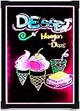 KANGNING Doppelseitige leuchtende malerei Board tragbare elektronische Fluoreszierende Board led multifunktions schriftkarton hängen Werbekarten für Bars und Cafés geeignet-60 * 80 cm. Well
