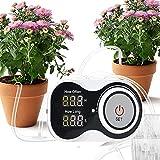 Yongqin Bewässerungs-Timer-System Automatisches Tropf-Bewässerungs-Kit Mikro-Zimmerpflanzen Selbstbewässerungssystem Digitaler Programmierbarer Wassertimer, Netzteilbetrieb, Für 10 Topfpflan