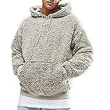 Sweatshirt Herren Kapuzen Pullovers Herren Sport Casual Fashion Känguru Tasche Langarm Polar Fleece Frühling Und Herbst Classic Comfortable Boutique Herren Tops C-Gray XXL