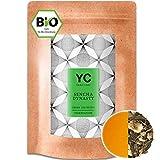 Bio Sencha Grüntee Sencha Dynasty Premium lose Blätter Grüner tee Green Tea von YANG CHAI Mit Einzigartigem Aroma Und Einem Hauch Erfrischender Zitrone das ideale Tee Geschenk für Teeliebhaber 250Gr