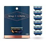 King C. Gillette Rasierklingen für Rasierer Herren mit Trimmerklinge für Präzision, langlebige Klingen, 6 Ersatzklingen