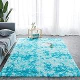 Alfombra Batik-Teppich, zotteliger Plüschboden, flauschig, bedruckt, für Kinder, Kunstfell, Wohnzimmerteppich, Absorption, Alfomb