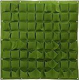 Vertikale Pflanztasche mit 72 Taschen, für Pflanzen, Gemüse, für den Innen- und Außenbereich und Kräuter, Blumen, Hofdekoration, Pflanztasche (grün)