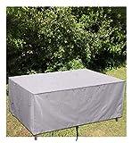 Abdeckung für Gartenmöbel Anti-UV Regenschutz und Staubfest wasserdichte, 210D Oxford Gewebe Abdeckung für Gartenmöbel Winterfest,123x61x72cm,Silber