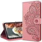 TOUCASACHOICE Kompatibel mit Samsung Galaxy S8 Plus Hülle, Ultra Slim PU Leder Muster Floral Handyhülle [Magnetverschluss][Standfunktion][Kartenfach] Flip Schutzhülle für Galaxy S8 Plus (Rosa)