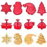 Sinwind Ausstechformen Weihnachten, Plätzchenausstecher Weihnachten, Keksausstecher Weihnachten - für Motivtorten Tortendeko Kekse Backen Küche Zubehör