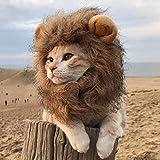 vcience Lustige Kleidung für Katzen Löwenmähne Katzenkostüm Löwenhaar Perücke Kappe Hundekostüme für kleine Hunde Weihnachten Haustier Halloween Kostüme