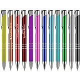 100 Stück Metall Kugelschreiber KING blau mit Lasergravur Gravur alle mit gleicher Gravur