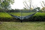 Hängematte Nicht inbegriffen 2019 günstige Reise Camping doppelter 2 Person Anti-moskito trennen hängematte Meditation moskito net, WQQWQQ-8521 (Color : Black)