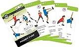 Stop! Fitness   Power Flex Beweglichkeit   Trainingskarten Übungskarten, deutsche Version, Kartengröße 66 x 100 mm mit Kunststoffbox - SAQ Serie