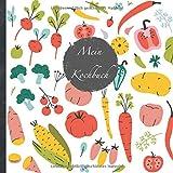 """Mein Kochbuch: blanko Rezeptbuch zum Selberschreiben • Platz für 100 Rezepte • mit Register • Design """"DIY Gemüse"""" • praktisches 21 x 21 cm Soft Cover ... vegan oder zum Grillen • Do it Yourself!"""