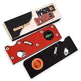 lynn Gipskartonhobelwerkzeug, Holzbearbeitungswerkzeuge, universell, Aluminium, Metall, langlebig, schwarz, rot, Trockenb