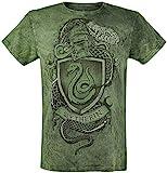 Harry Potter Slytherin - The Snake Männer T-Shirt grün S