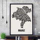 Mainz Buchstabenort Schwarz auf Naturweiß