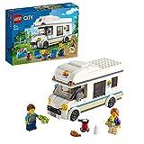 LEGO 60283 City Ferien-Wohnmobil Spielzeug, Wohnmobil Spielset, Sommerferien-Spielzeug