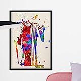 Nacnic Yoda Aquarell Poster. Wasserfarbe Stil Wanddekoration Abbildung von Star Wars. Verschiedene mehrfarbige Science Fiction Filme Bilder ohne Rahmen Größe 30x40cm.