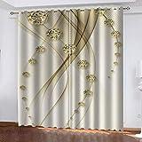 fgjorics Heller Schmuck Wasserdicht Und Schimmelresistent Polyester Vorhang Farbe 3D Home Decoration Vorhang (2 Panels) 250(H) X140(W) Cmx2