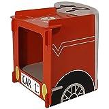 Kidsaw LTD Kidsaw, Racing Car Nachttisch, Holz, rot, 35x 29x 29cm