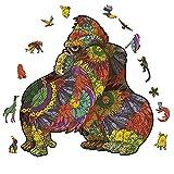 pengge Holz Puzzle Für Erwachsene, Tiermuster Einzigartige Form Puzzles Stücke Fun Puzzle Spiel Für Familien Erwachsene Und Kinder(S 100 pcs, Orangutan)