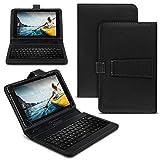 NAUC Tablet Hülle kompatibel für Medion Lifetab E Serie 10 10.1 Zoll Tasche Tastatur Schutzhülle, Farben:Schwarz, Tablet:Medion Lifetab E10511