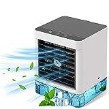 Mobile Klimaanlage, persönliche Klimaanlage, 4-in-1-Luftkühler, Luftbefeuchter, Ventilator, 3 Leistungsstufen, ideal für Arbeit und Z