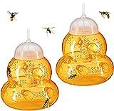 Haogge Wespenfalle zum Aufhängen im Freien, wiederverwendbar, aus Kunststoff, Wespenfalle, Insektenfalle, umweltfreundlich, für Haus