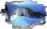 Griechenland Bucht Meer Felsen Wandtattoo Wandsticker Wandaufkleber C0046 Größe 40 cm x 60
