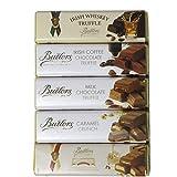 5 Riegel Butlers Irish Trüffelschokolade in 5 Geschmacksrichtungen