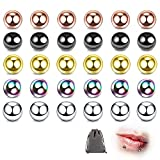 30 Sätze 3MM Zungenpiercingbälle, Zungenpiercing, Zungenpiercingschmuck, magnetischer Zungenpiercingball, Piercingball, Edelstahlpiercing-Ersatzball