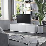 TV-Schrank Weiß 120×34×30 cm Spanplatte