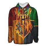 Ha_Rry Poster Po_Tter 3D-Druck Herren Hoodies Langarm Pullover Pullover Sweatshirts Pullover Gr. M, Schwarz