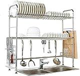 Utensilienhalter, Regal, 304 Spüle, Edelstahl, Ablassregal, Küchenregal, Aufbewahrungsbox, Maße: 90 x 28 x 83 cm