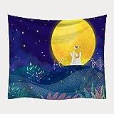 CYYyang Wandbehang Hochwertige Wandteppich Tapisserie Wandtuch Haus Deko Bettdecke Deko Hängende Stoff Strandtuch Bedruckte Decke
